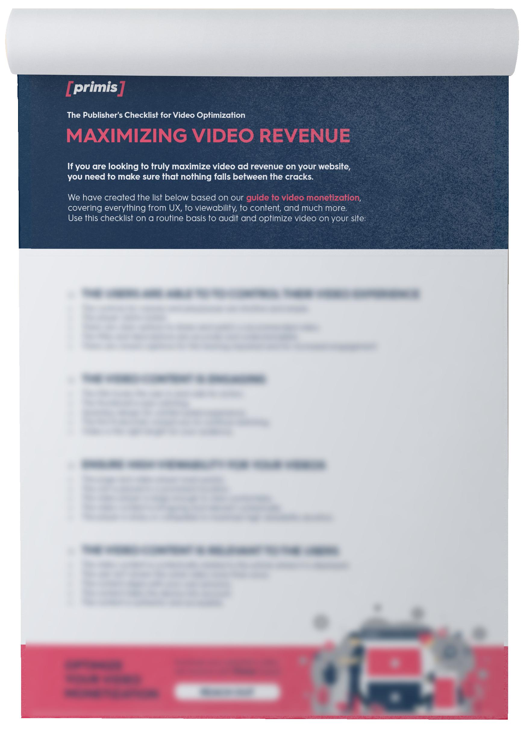 The Video Monetization Checklist